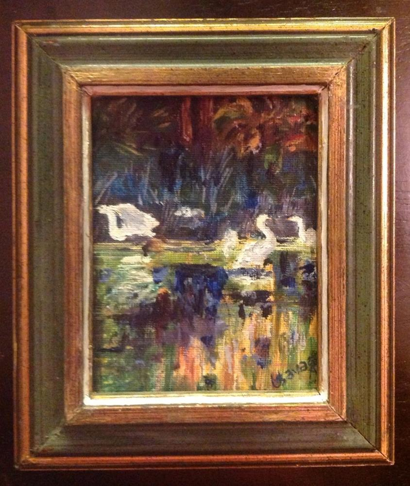 """Wading Birds"" original fine art by Judy Usavage"