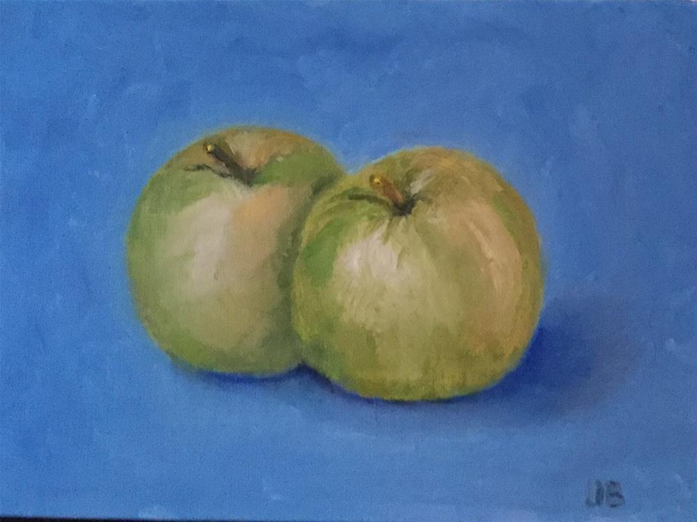 """""""Green Apples"""" original fine art by Jeanne Bossart"""
