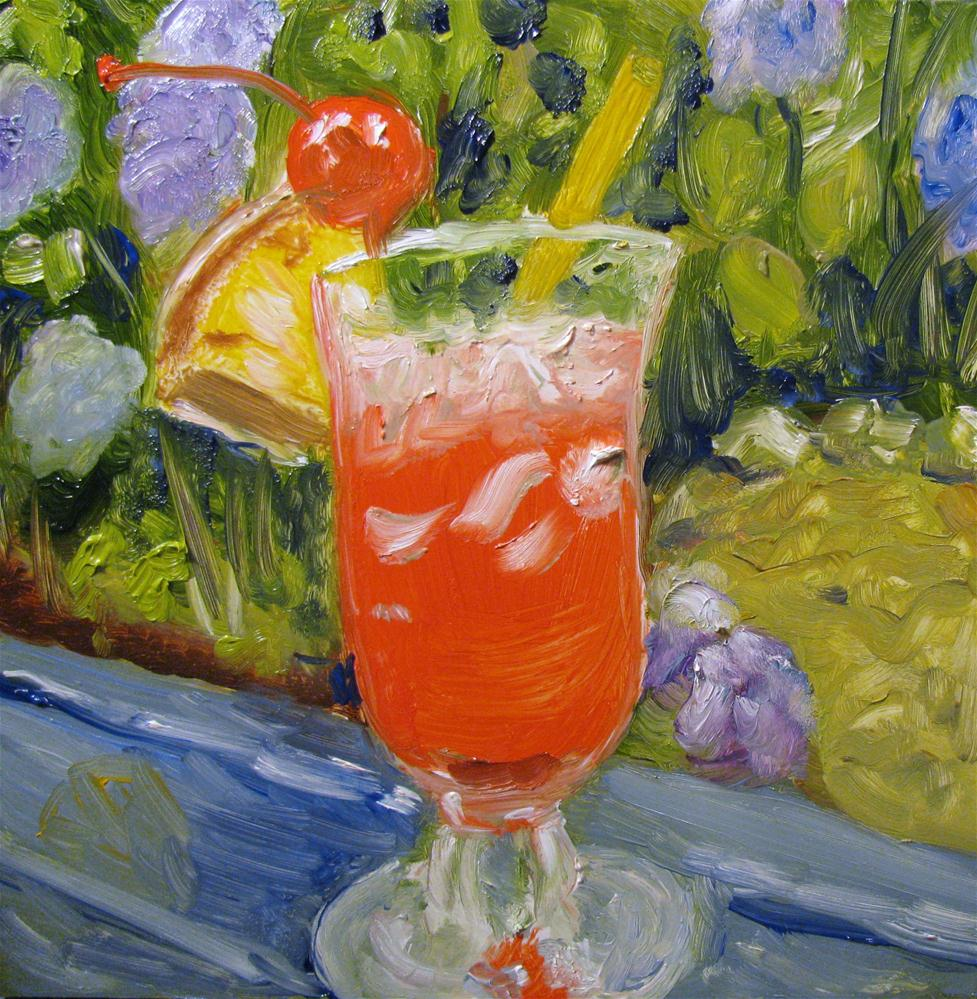 """Summertown Sling"" original fine art by Susan Elizabeth Jones"