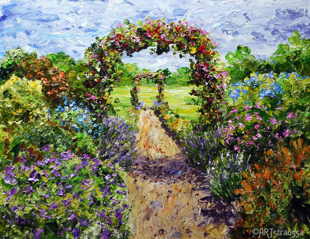 """Gillian's Arches"" original fine art by Gloria Ester"