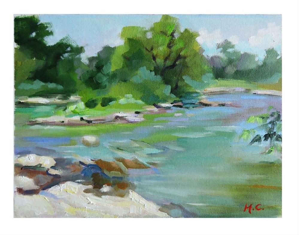 """Song of the stream"" original fine art by Michelle chen"