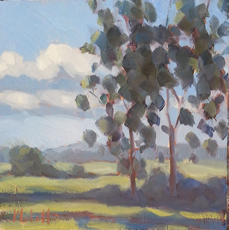 """Mid-Summer Landscape Original Daily Oil Painting"" original fine art by Heidi Malott"