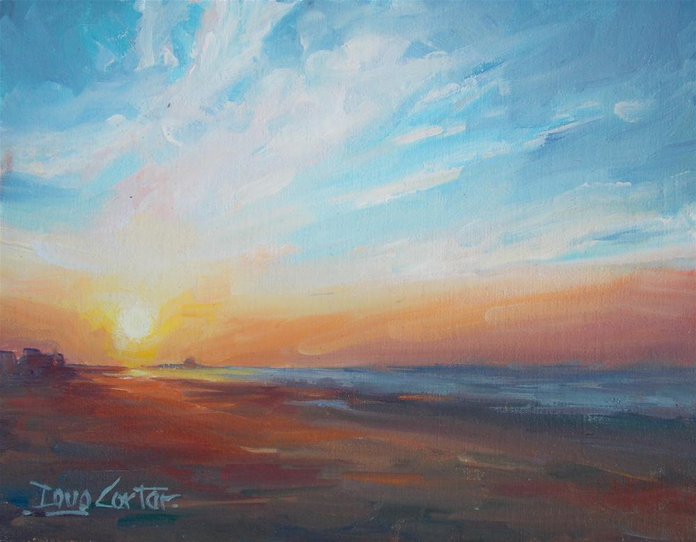 """ Ocean Sunrise "" original fine art by Doug Carter"