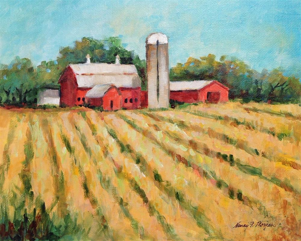 """The Heartland"" original fine art by Nancy F. Morgan"