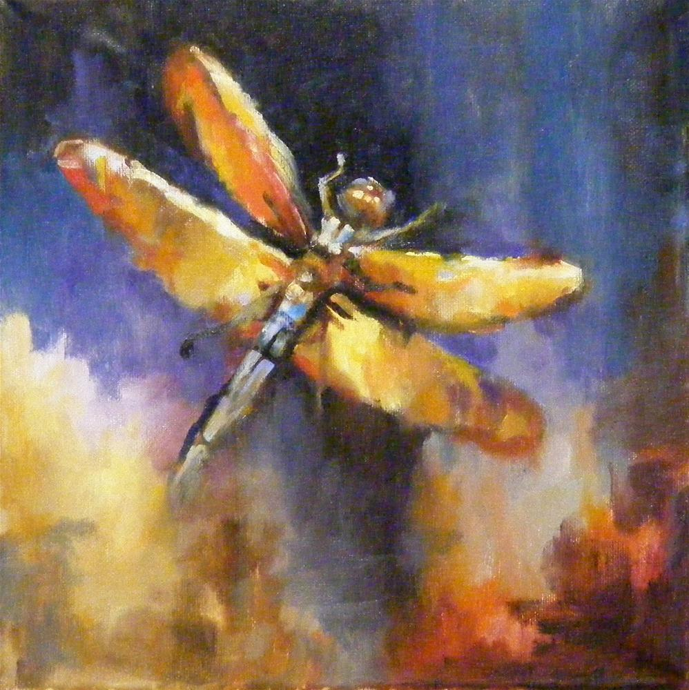 """Dragonfly Colors, Impressionistic Art"" original fine art by Diana Delander"