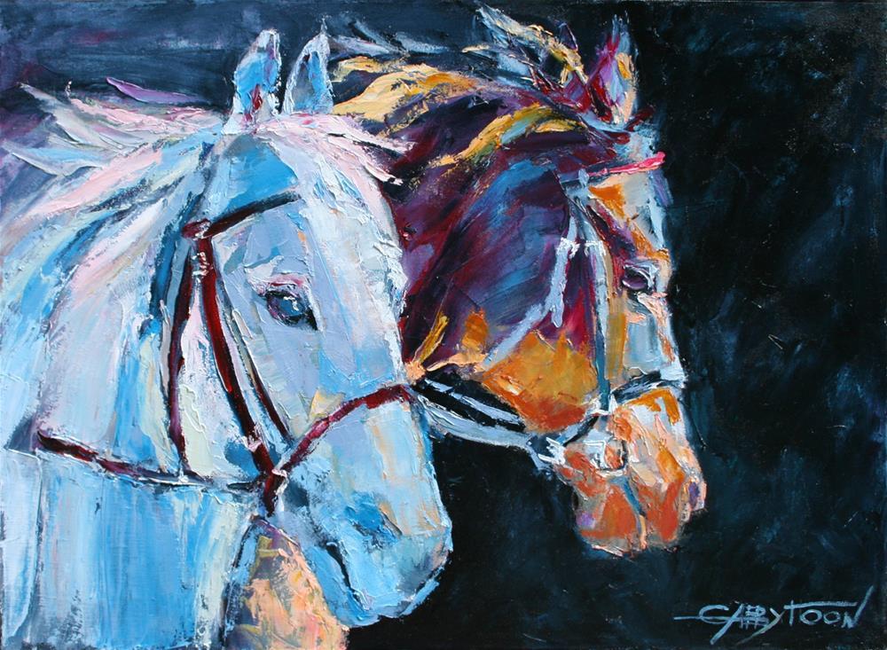 """Horses"" original fine art by Gabriella DeLamater"