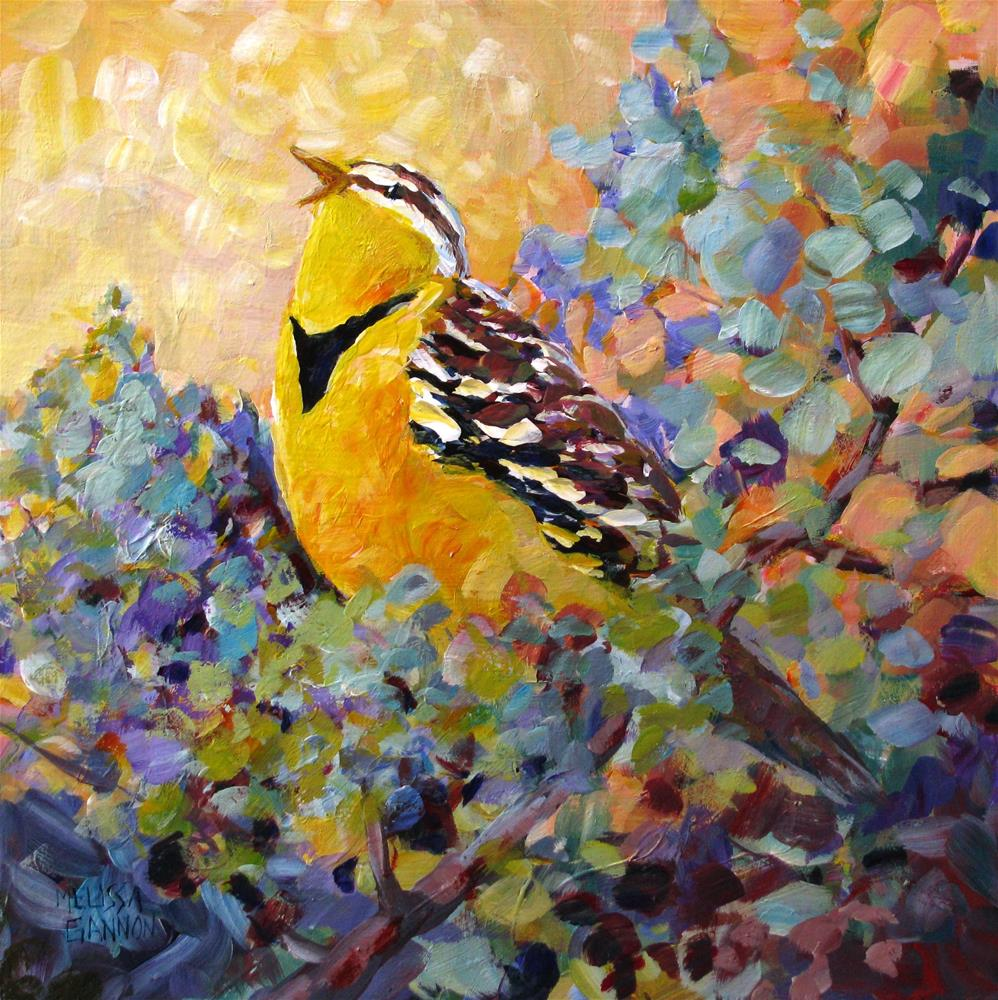 """Song to the Sun"" original fine art by Melissa Gannon"