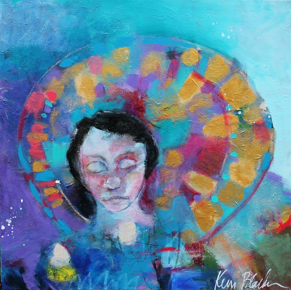 """""""She Has a Halo and She Doesn't Know It """" original fine art by Kerri Blackman"""
