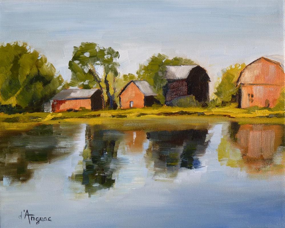 """Peaceful River"" original fine art by Karen D'angeac Mihm"