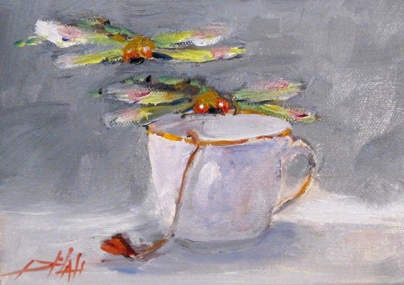 """Tea for Two"" original fine art by Delilah Smith"