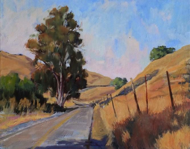 """Country Road North"" original fine art by Deborah Newman"