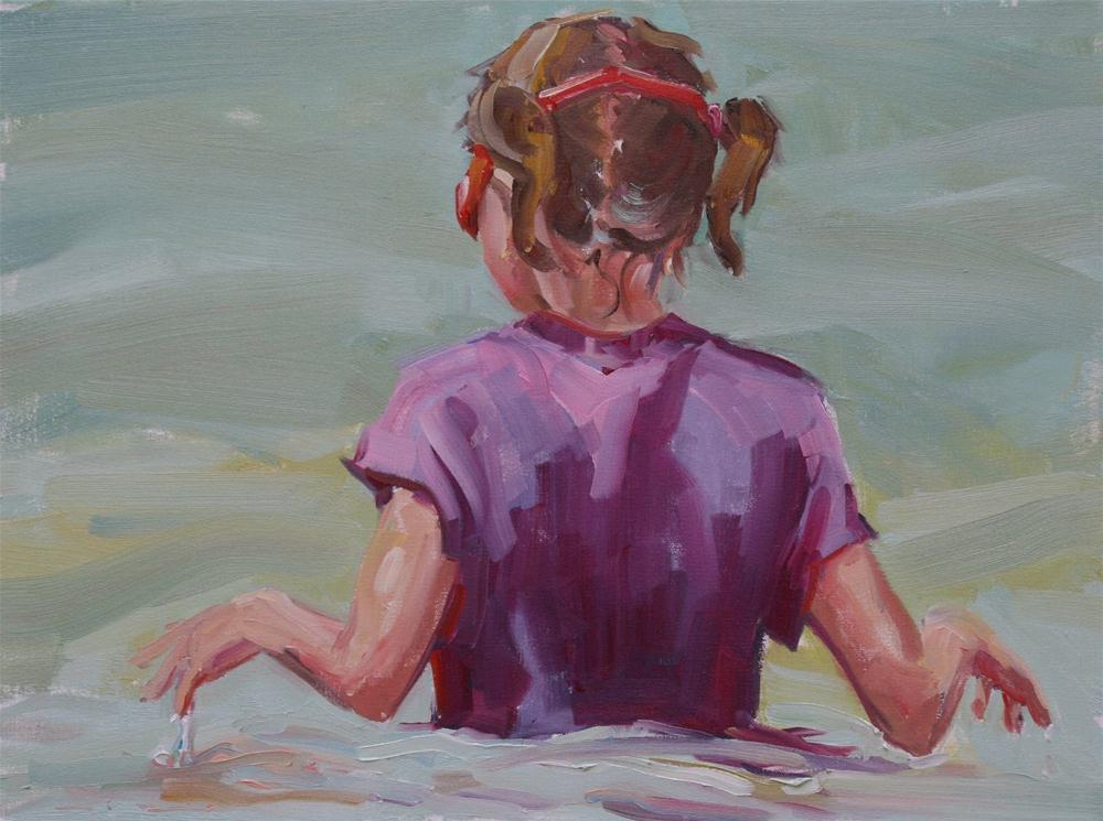 """red goggles"" original fine art by Carol Carmichael"
