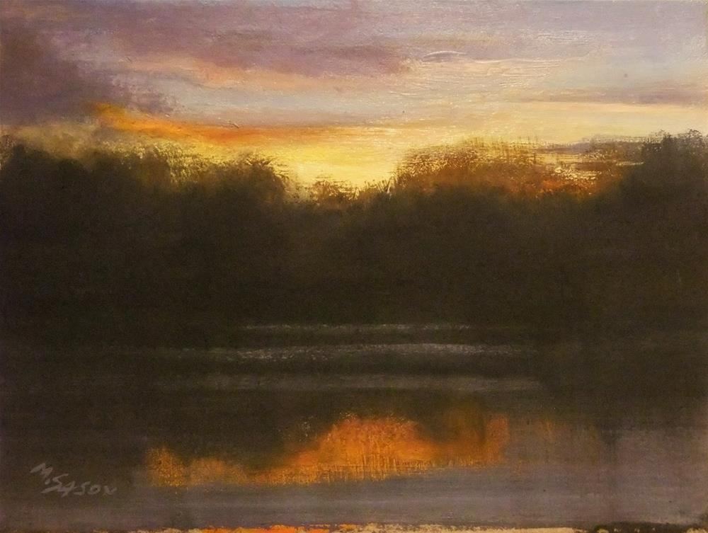 """Winter sunrise"" original fine art by Michael Sason"
