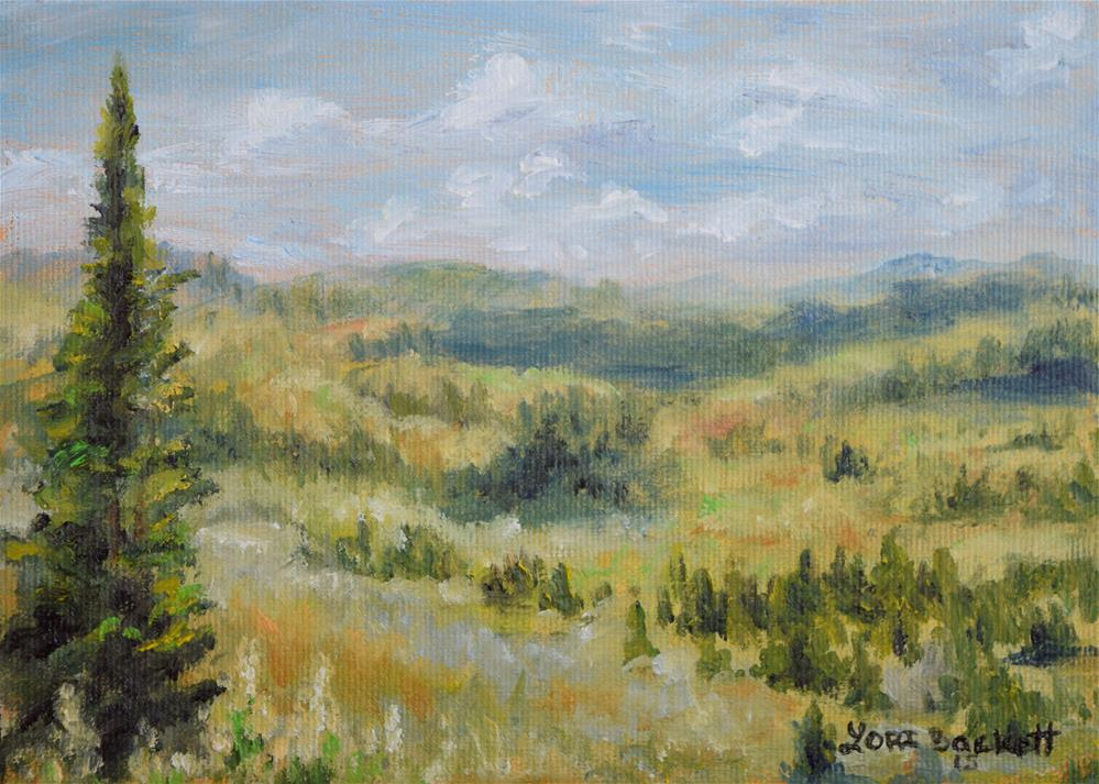 """Somewhere In Yellowstone"" original fine art by Lori Brackett"