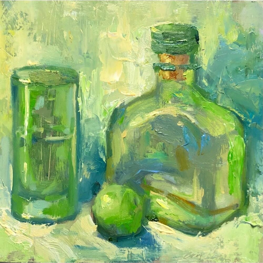 """Patron"" original fine art by Emiliya Lane"