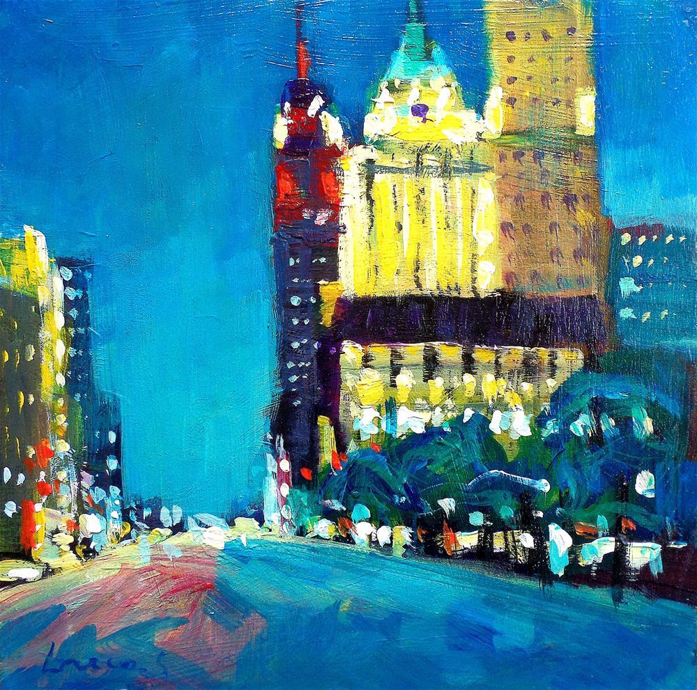 """""""LIGHT IN THE CITY"""" original fine art by salvatore greco"""