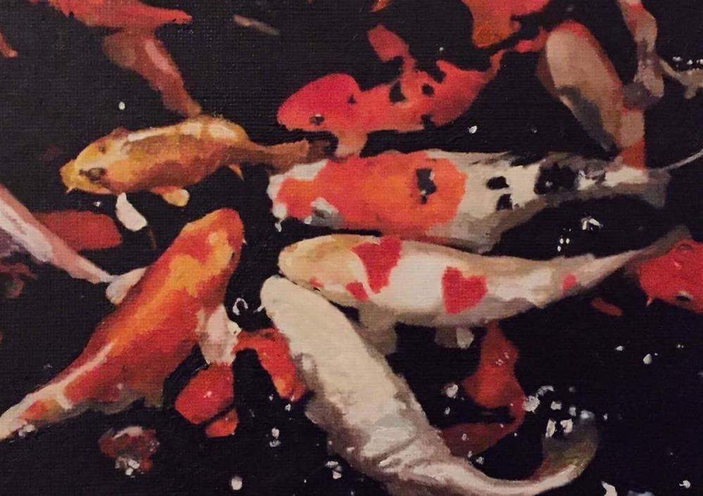 """Koi Fish II"" original fine art by John Cameron"