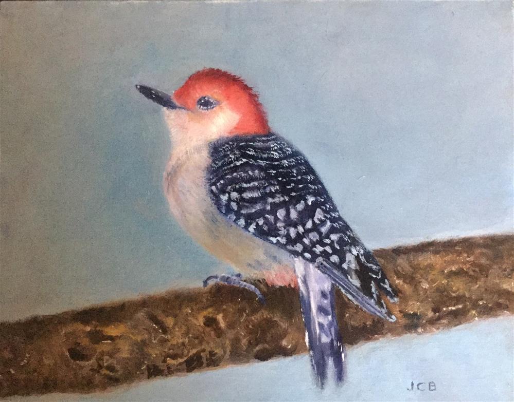 """""""Red-Breasted Woodpecker"""" original fine art by Jeanne Bossart"""