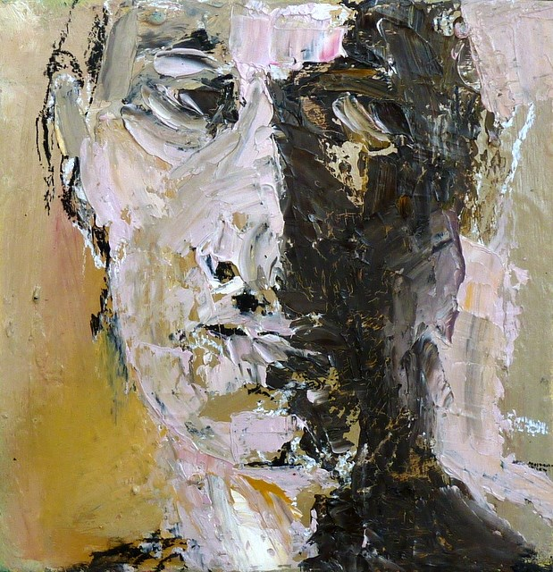 """Portrait - Expressiv"" original fine art by Mila Plaickner"