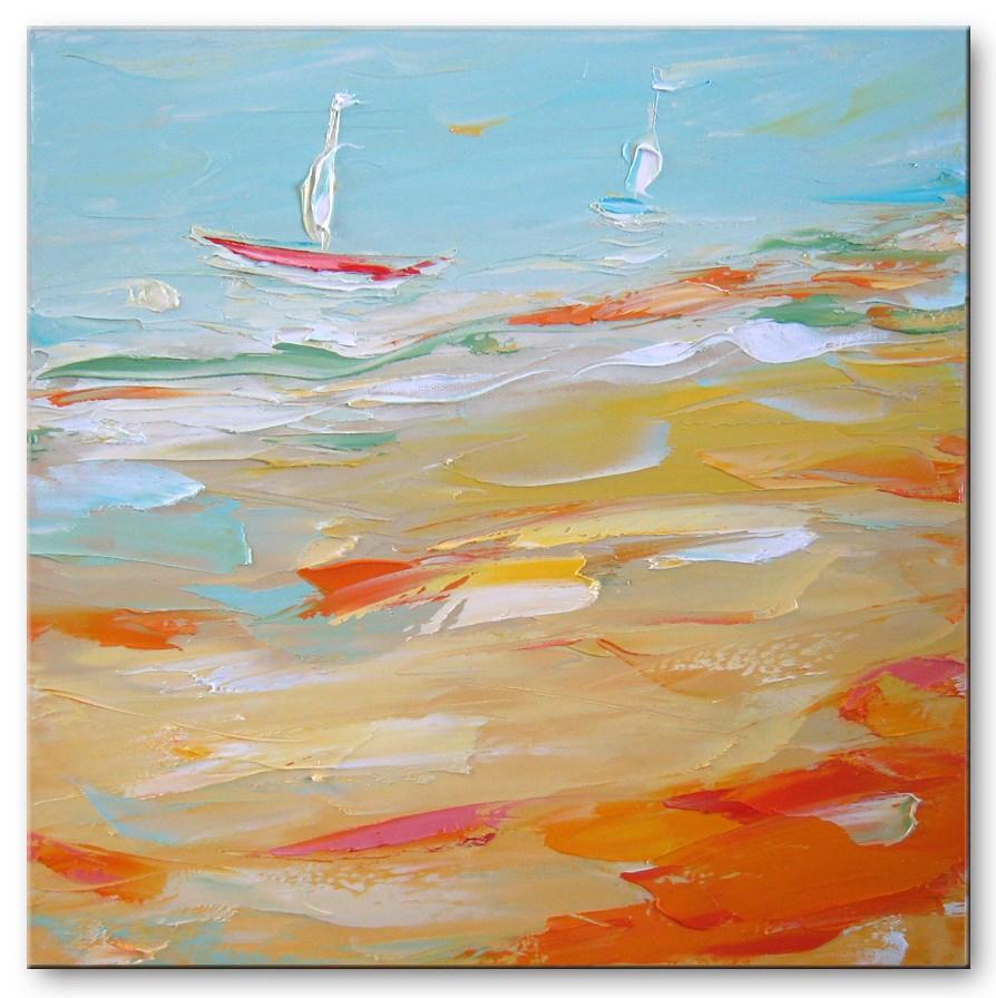"""Sandy Bay"" original fine art by Elena Lunetskaya"