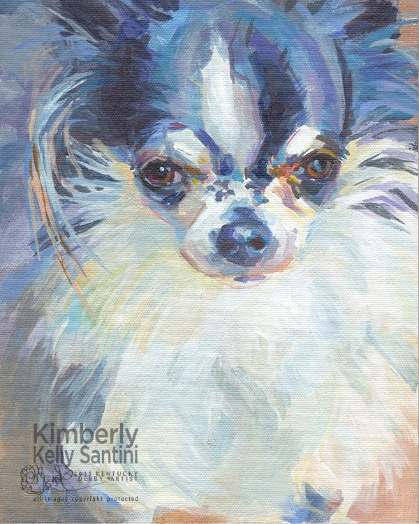 """Kit"" original fine art by Kimberly Santini"