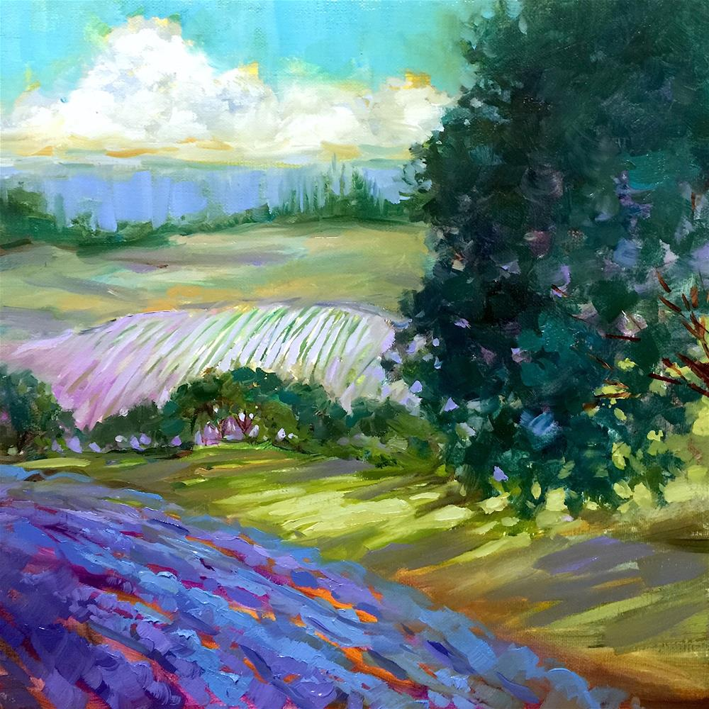 """Lavender Light and Italy Awaits - Nancy Medina Art"" original fine art by Nancy Medina"