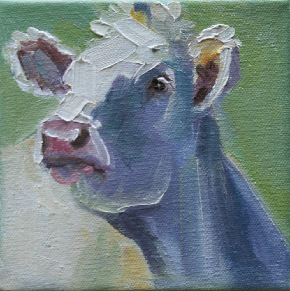"""cow do you do?"" original fine art by Carol Carmichael"
