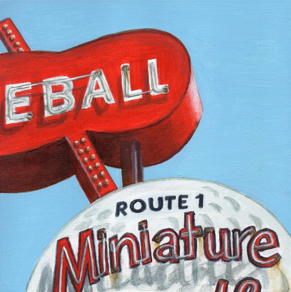 """Miniature (Golf)"" original fine art by Debbie Shirley"