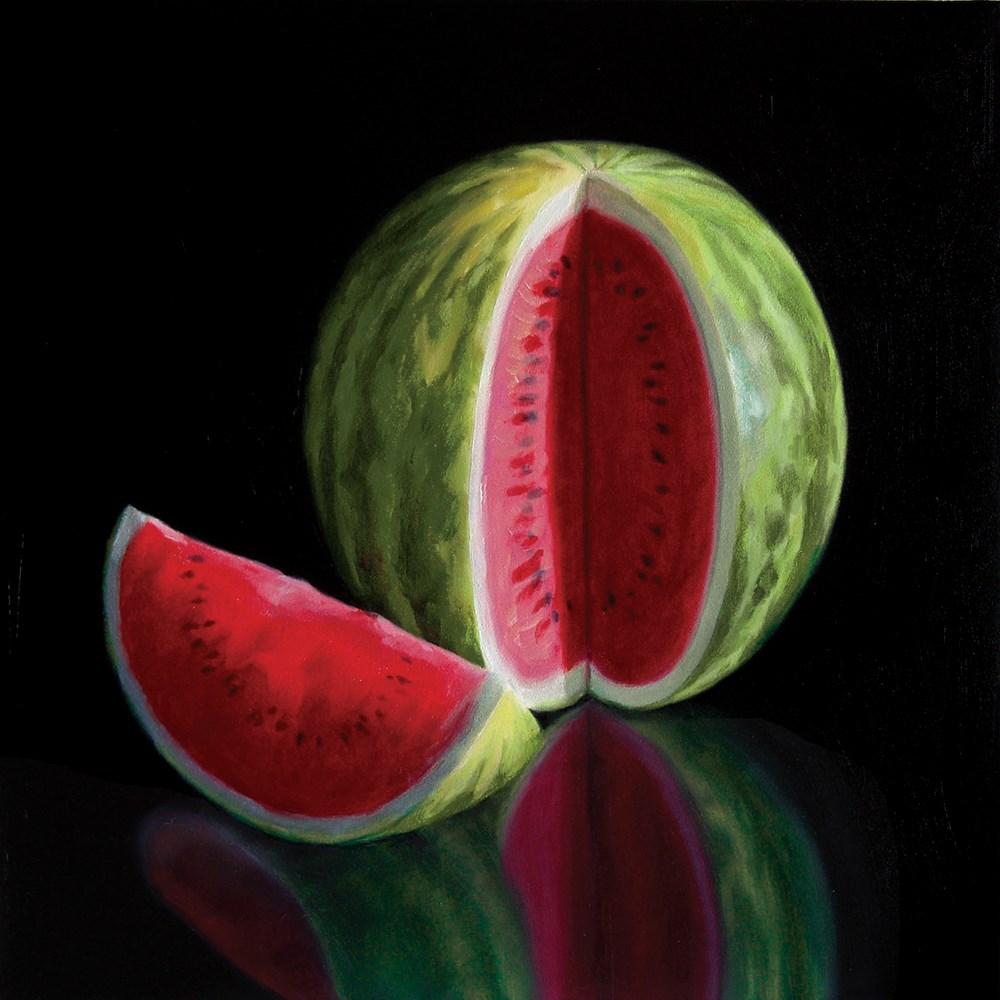 """Watermelon And Slice"" original fine art by Nance Danforth"