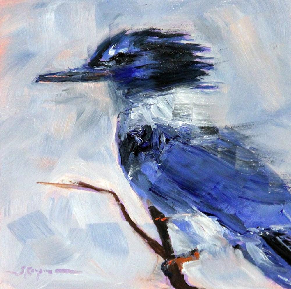 """""""Kingfisher"""" original fine art by Shelley Koopmann"""