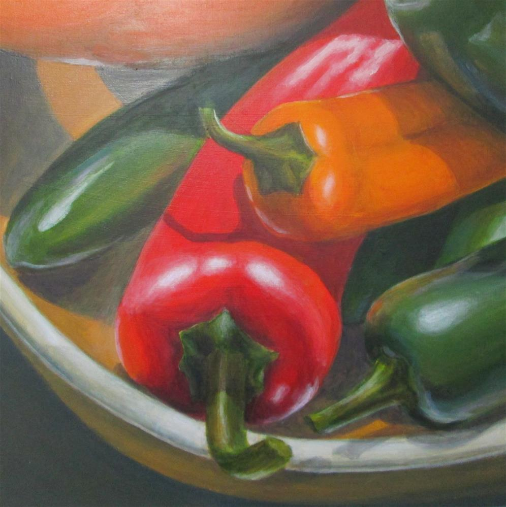 """Mixed Peppers"" original fine art by Debbie Shirley"