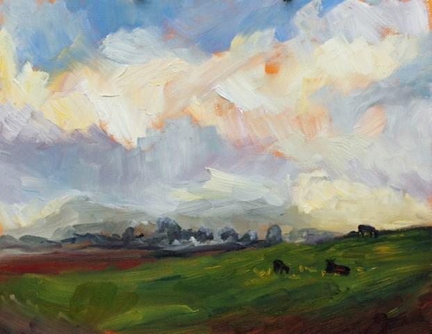 """""""Stormy Skies"""" original fine art by Loralee Chapleau"""