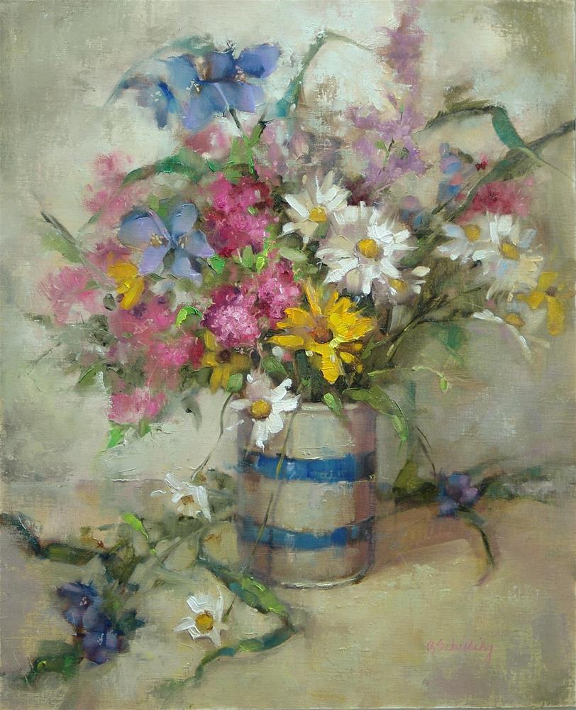 """""""Wildflower Bouquet"""" original fine art by Barbara Schilling"""