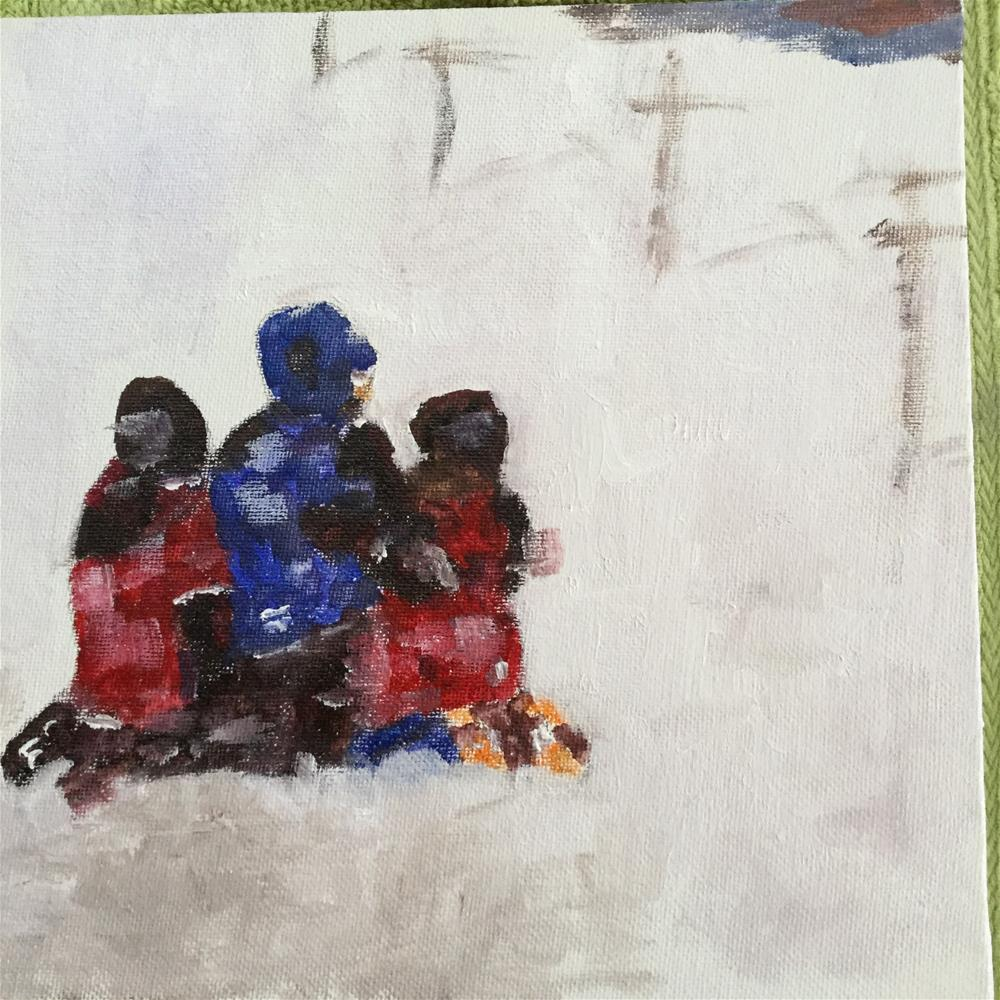 """Tres amigos"" original fine art by pamela kish"