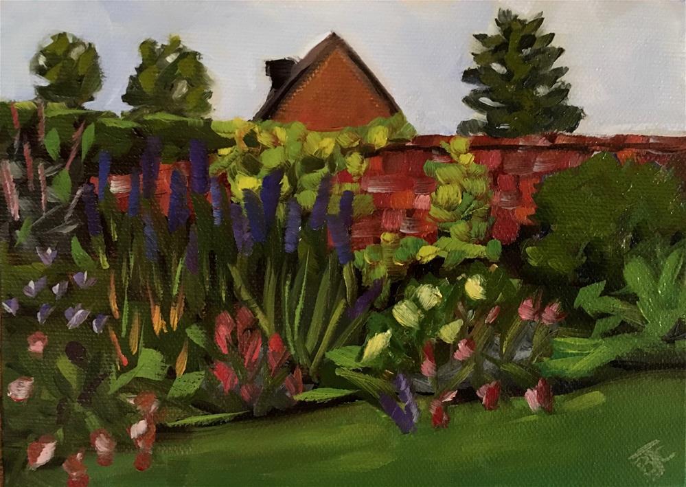 """""""Well Kept Garden"""" original fine art by Bobbie Cook"""