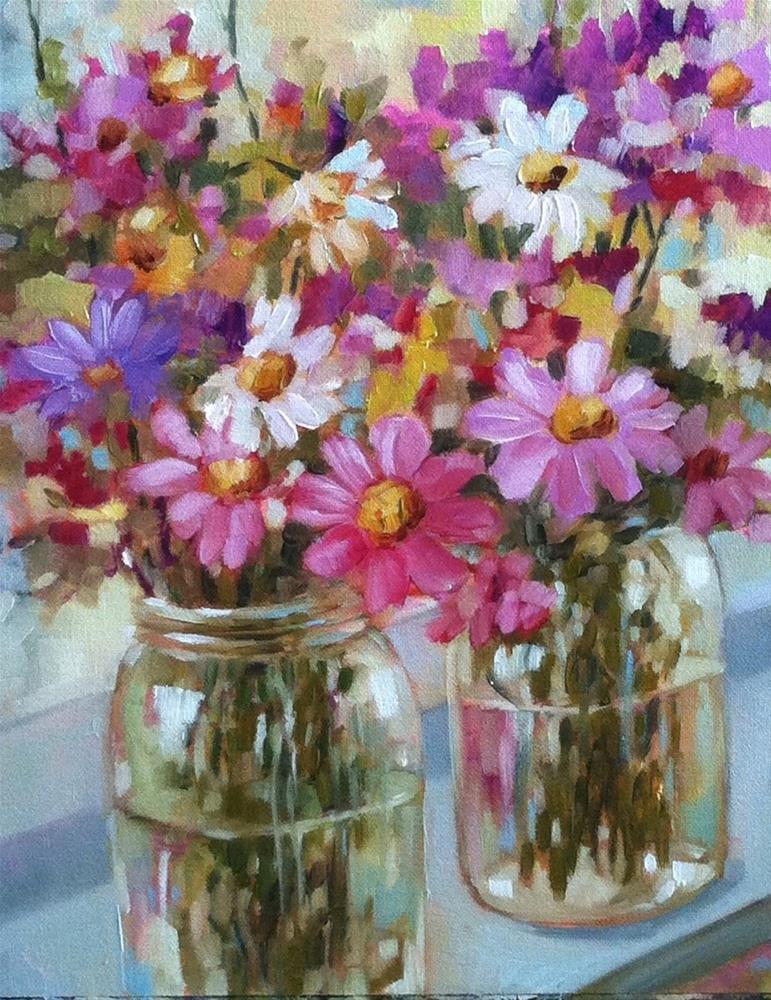 """Field Flowers"" original fine art by Libby Anderson"