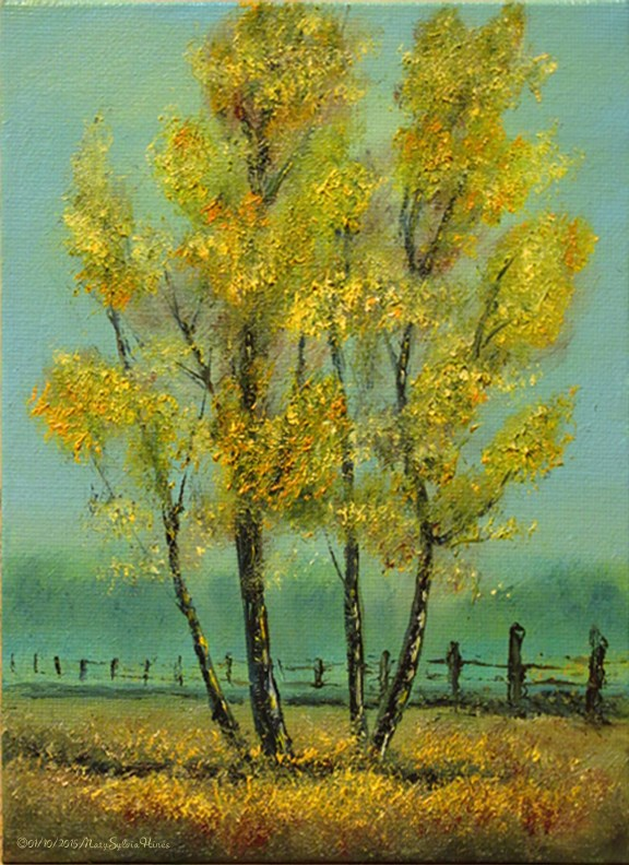 """Landscape Mini-29"" original fine art by Mary Sylvia Hines"