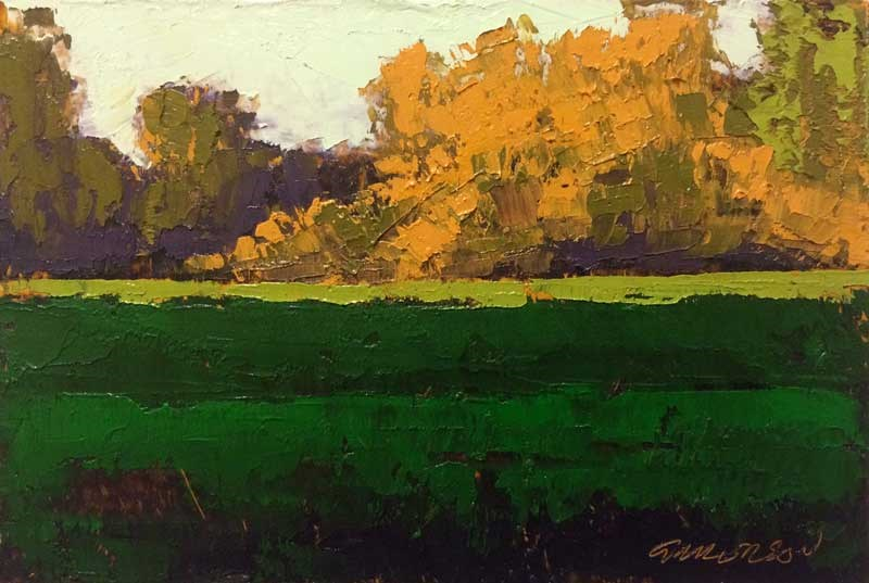 """Spring Greens, Elm Savannah"" original fine art by Mary Gilkerson"
