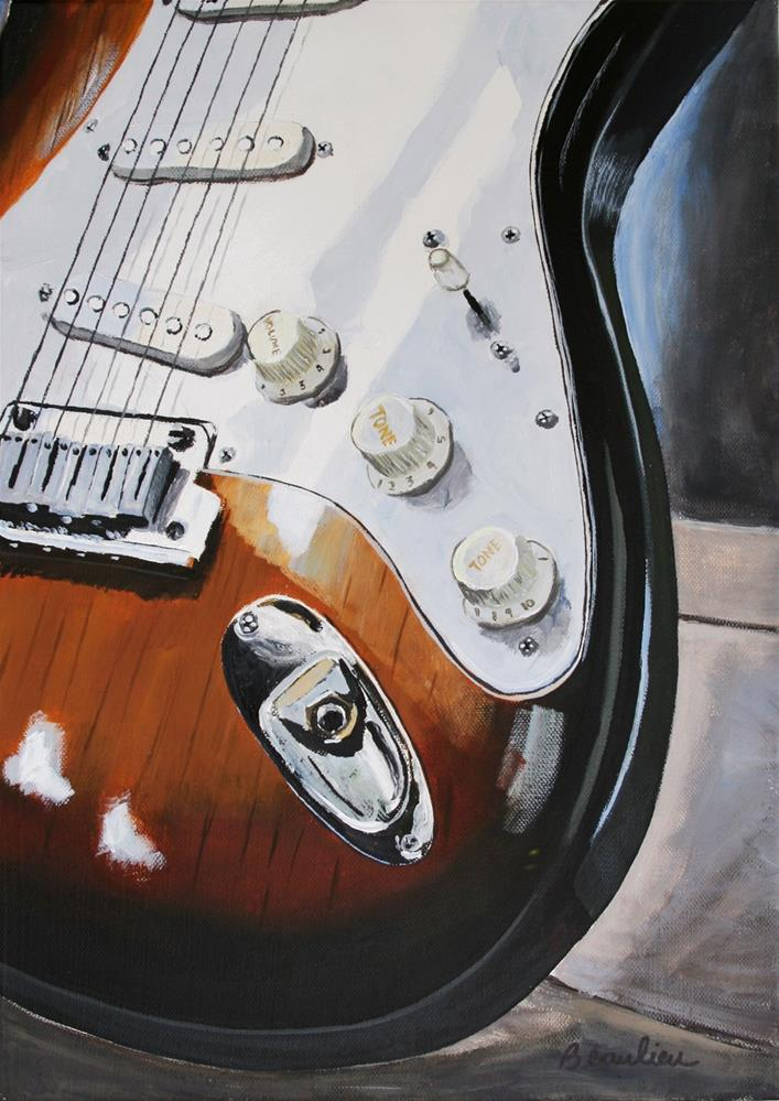 """Fender 2"" original fine art by Andre Beaulieu"