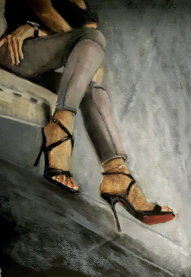 """Those shoes"" original fine art by Rentia Coetzee"