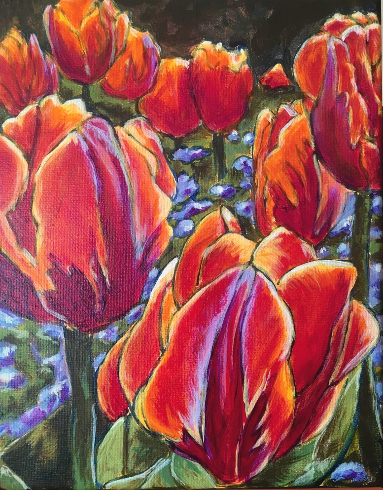 """Tulips 1"" original fine art by Colleen OHair"