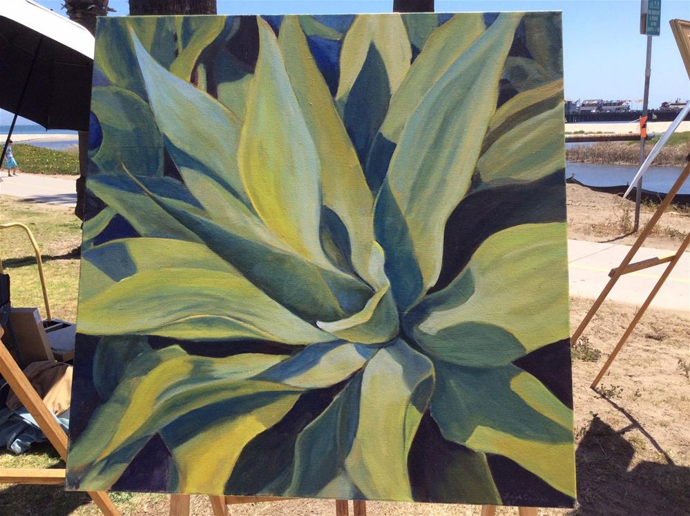 """Agave "" original fine art by Leigh Alexandra Sparks"