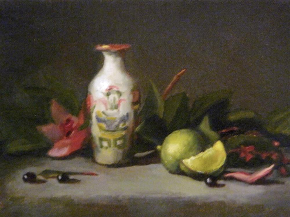 """""""Small Chinese with Lime"""" original fine art by Susan Leider"""