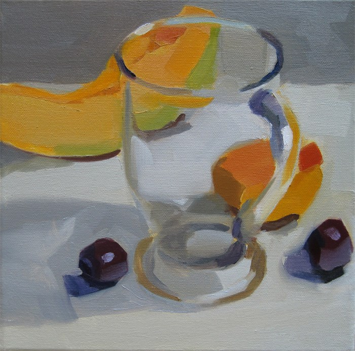 """Clear Glass and Fruit"" original fine art by Robin Rosenthal"