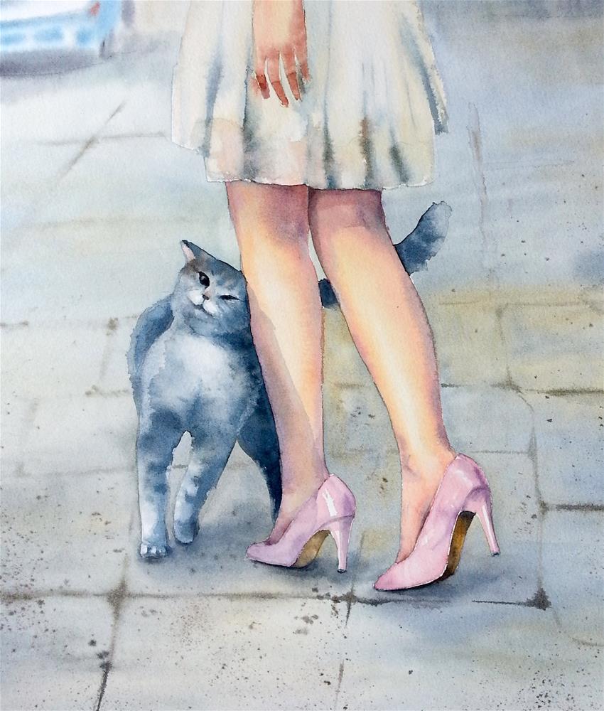 """An Eye for Beauty"" original fine art by Olga Beliaeva"