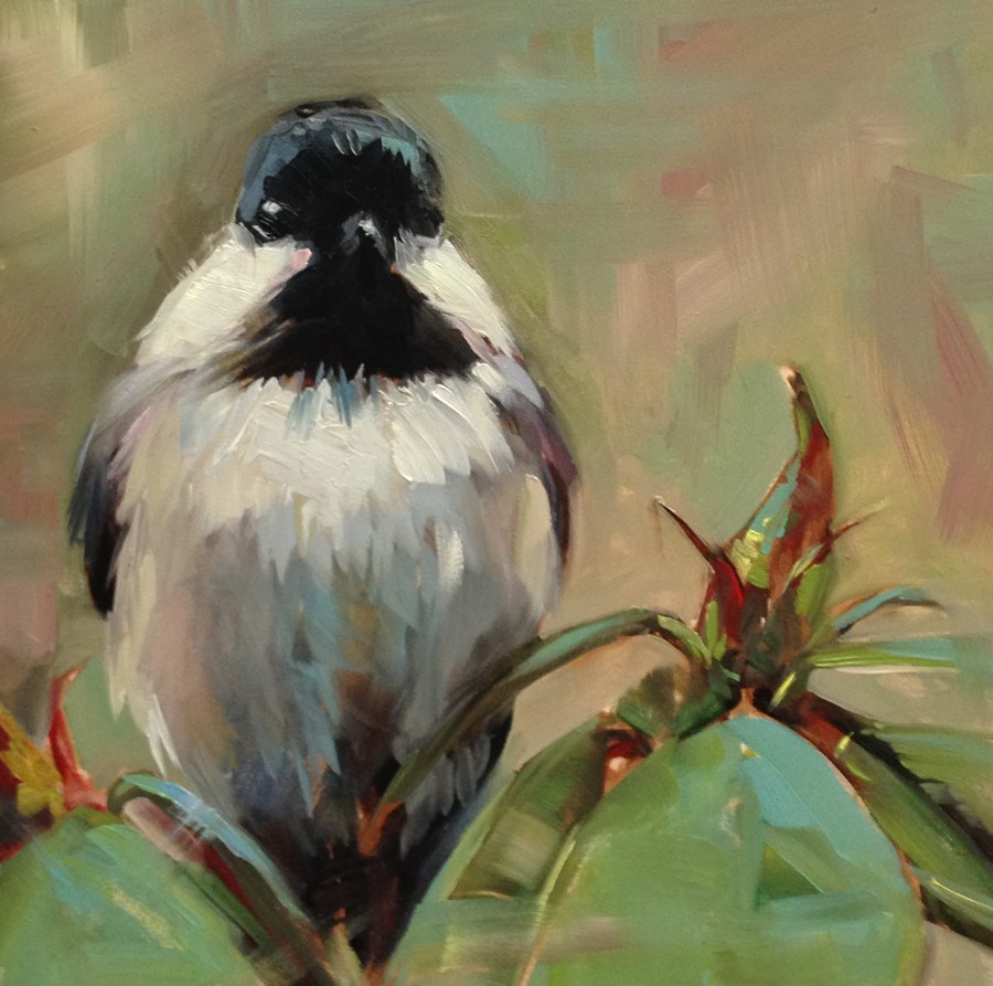 """Mary's Little Chickadee"" original fine art by Patti McNutt"