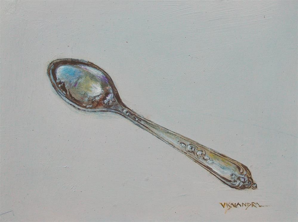 """silver spoon"" original fine art by vishalandra dakur"
