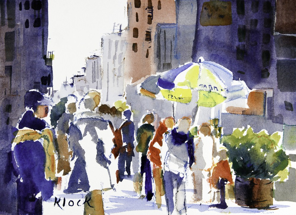 """Midtown"" original fine art by Diane Klock"
