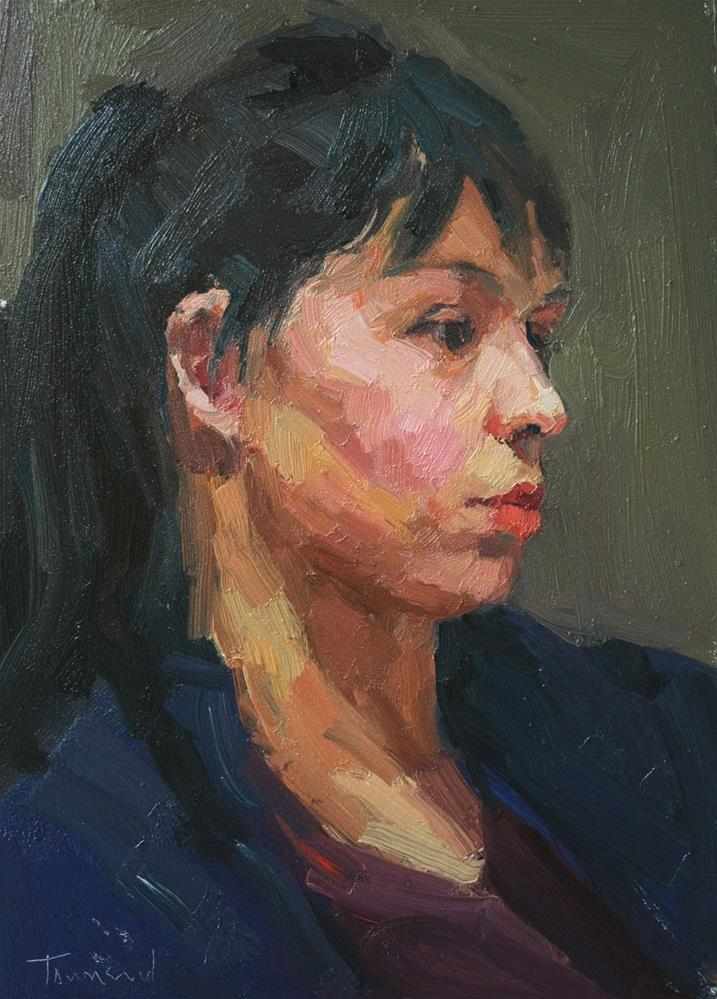 """Portrait Study #13"" original fine art by Kathryn Townsend"