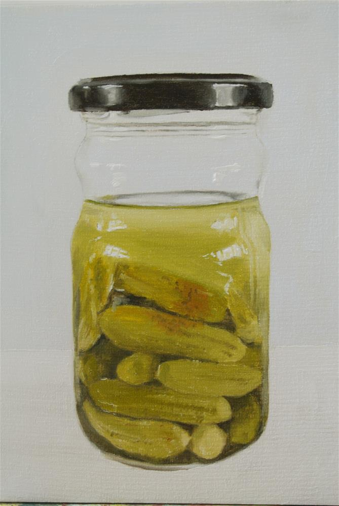 """Jar of Gherkins"" original fine art by James Coates"
